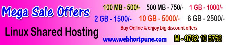 Mega Sale offer on Web Hosting Plans